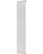 Typhoon - White Vertical Radiator H1800mm x W340mm Single Panel