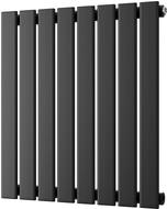 Typhoon - Black Horizontal Radiator H600mm x W544mm Single Panel