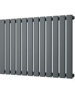 Typhoon - Anthracite Horizontal Radiator H600mm x W816mm Single Panel