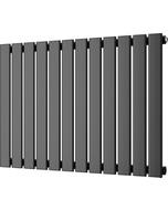 Typhoon - Black Horizontal Radiator H600mm x W816mm Single Panel