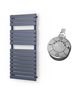 Typhoon - Anthracite Electric Towel Rail H1156mm x W500mm 600w Thermostatic