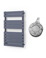 Typhoon - Anthracite Electric Towel Rail H816mm x W500mm 300w Thermostatic