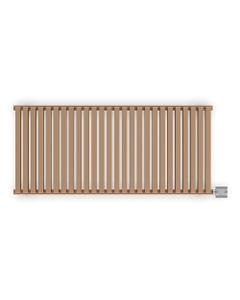 Nemo - Bright Copper Horizontal Electric Radiator H530mm x W1185mm 1000w Thermostatic