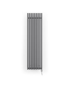 Rolo-Room - Modern Grey Vertical Electric Radiator H1800mm x W480mm 1000w Thermostatic