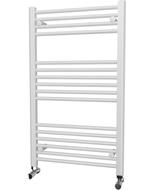 Zennor - White Heated Towel Rail - H1000mm x W600mm - Straight