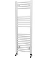 Zennor - White Heated Towel Rail - H1200mm x W400mm - Straight
