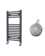 Zennor - Anthracite Electric Towel Rail H800mm x W400mm Straight 300w Thermostatic