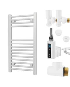 Zennor - White Dual Fuel Towel Rail H800mm x W400mm 300w Thermostatic WIFI - Straight