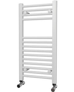 Zennor - White Heated Towel Rail - H800mm x W400mm - Straight