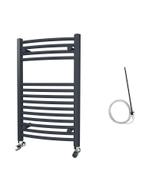Zennor - Anthracite Electric Towel Rail H800mm x W500mm Curved 300w Standard