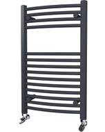 Zennor - Anthracite Heated Towel Rail - H800mm x W500mm - Curved