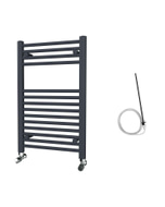 Zennor - Anthracite Electric Towel Rail H800mm x W500mm Straight 300w Standard