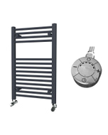Zennor - Anthracite Electric Towel Rail H800mm x W500mm Straight 300w Thermostatic