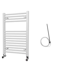 Zennor - White Electric Towel Rail H800mm x W500mm Straight 300w Standard