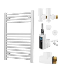 Zennor - White Dual Fuel Towel Rail H800mm x W500mm 300w Thermostatic WIFI - Straight