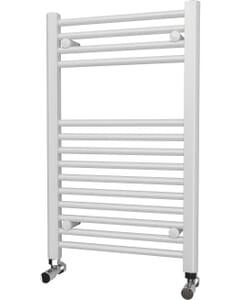 Zennor - White Heated Towel Rail - H800mm x W500mm - Straight
